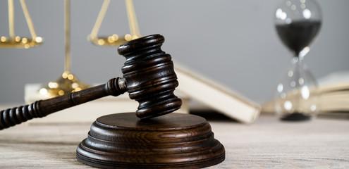 Law Concept. Bright gray background