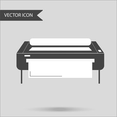 Vector illustration as an industrial printer. The concept of a flat icon