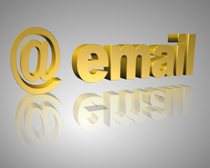 email 3d text
