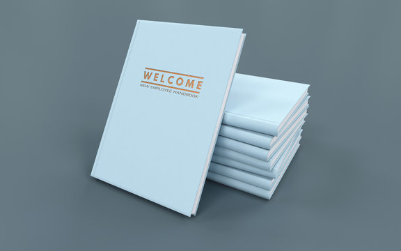 New Employee Handbook (HR handbook). 3D illustration