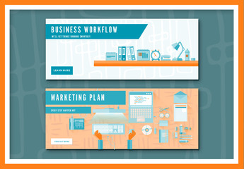 Two Business and Marketing Web Banner Layouts