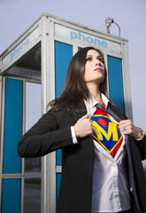 Super Momma Real Modern Day Hero Superhero Mom Mother Exits Phone Booth