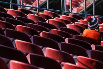 Torcedor no estádio do Morumbi
