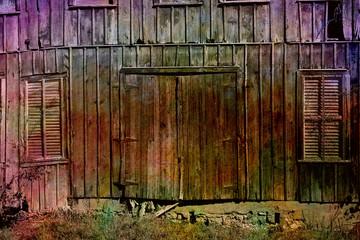 Textured vintage barn