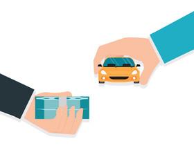 Buying new car conceptual