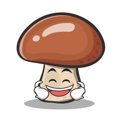 Laughing mushroom character cartoon
