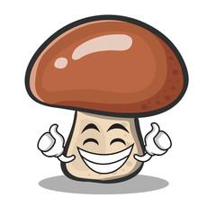 Proud face mushroom character cartoon