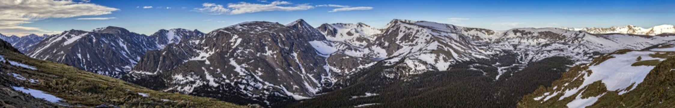 Panoramic view from Trail Ridge Road, Rocky Mountain National Park, Colorado, USA