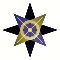 3D rendering of the Eight-Pointed Star