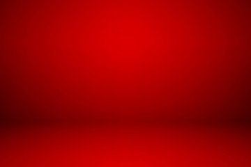 Wall Mural - Empty red studio room, used as background for display your products