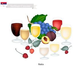 Rakia or Fruit Brandy, Popular Beverage in Serbia