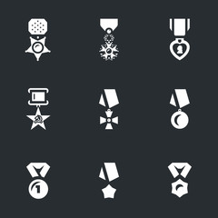Vector Set of Military Award Icons.