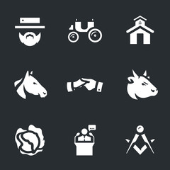 Vector Set of Religious community Icons.