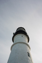 Lighthouse with neutral sky