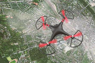 Drohne über Frankfurt fliegt viel zu hoch