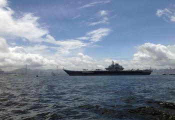 China's aircraft carrier Liaoning sails into Hong Kong