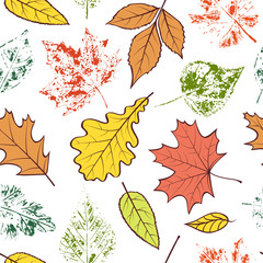 pattern with autumn leaves