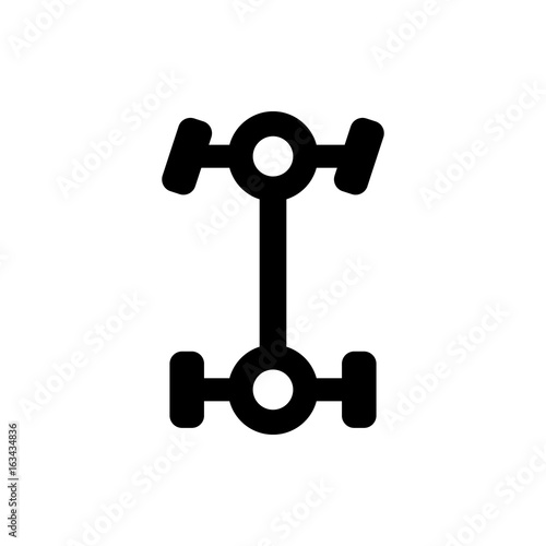 """The 4wd Dashboard Icon. Symbol. Flat Design. Stock"