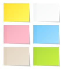 6 Stick Notes Color Mix