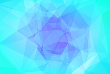 Gradient abstract horizontal triangle background. Cool ice colored polygonal backdrop for business presentation. Soft gradient color transition for mobile application and web. Trendy colorful banner.