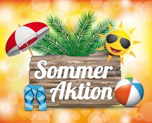 Sommer Strand Palmen Sommeraktion Bokeh