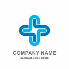 Medical Pharmacy Healthcare Geometric Cross Hospital Clinic Apotheke Business Company Stock Vector Logo Design Template