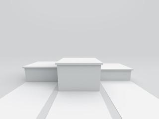 Empty winners podium. 3D rendering.