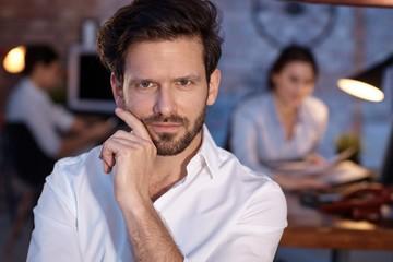Closeup portrait of confident businessman