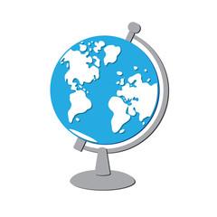 Globe vector isolated.