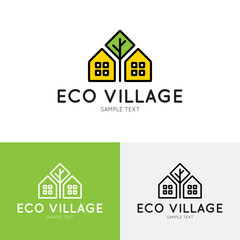 Eco Village Logo Template