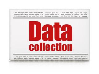 Data concept: newspaper headline Data Collection