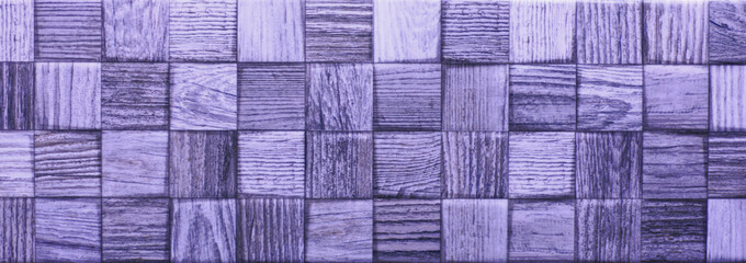 Wall Mural - Glossy tile for bath, pool, kitchen, purple mosaic