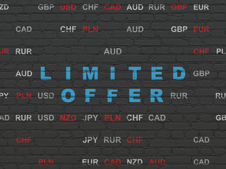 Finance concept: Limited Offer on wall background