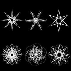 Beautiful geometric pattern astrology set