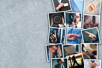 Business and entrepreneurship photo collage