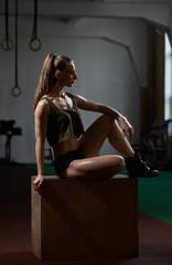 sporty Woman on box