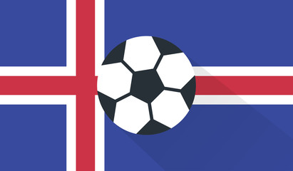 vector football / soccer ball on iceland flag background