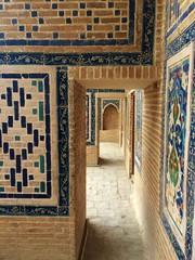 Architectural details of the Registan, in Samarkand, Uzbekistan