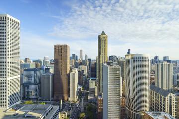 City skyline, Chicago, Illinois, United States of America, North America