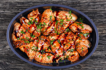 raw chicken wings marinated with spices