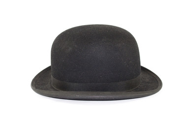 Gentleman's Bowler Hat on White Background