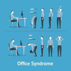 Office Syndrome. Vector
