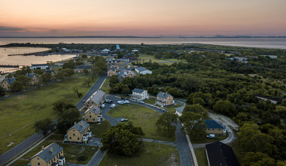 Aerial of Sandy Hook NJ