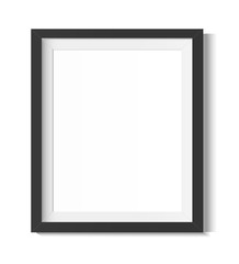 Black frame on a white background. Minimalistic frame for design