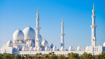 Sheikh Zayed Grand Mosque from distance.