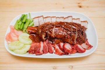Roast duck and roast pork, Thai food, Chinese food