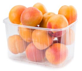 Fresh Apricots (isolated on white)