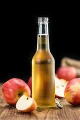 Apple Cider (selective focus, close-up shot)