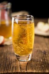 Apple Cider (selective focus) on vintage wooden background