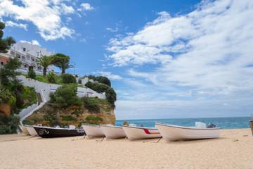 Praia do Carvoeiro in the Algarve (Portugal)